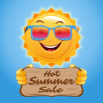 여름 세일을 위한 포스터 디자인입니다. 상