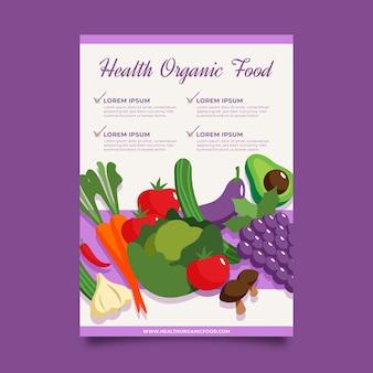 Poster design cibo sano