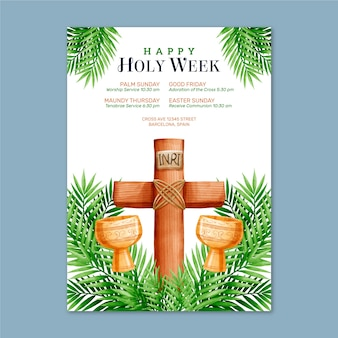 Poster design for holy week