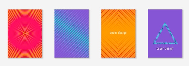 Poster design modern. orange and pink. colorful notebook, booklet, mobile screen, journal layout. poster design modern with minimalist geometric lines and shapes.
