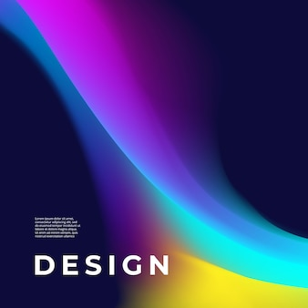 Poster design with abstract shape