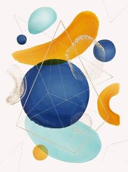 Дизайн плаката с абстрактными акварельными вкраплениями