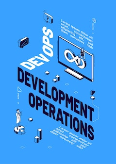 Poster of devops development operations