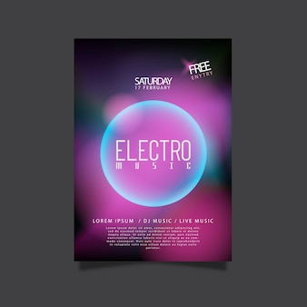 Poster for electro music party