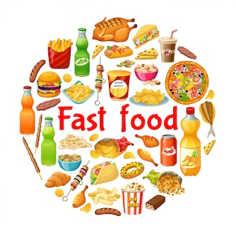 Poster of fast food.
