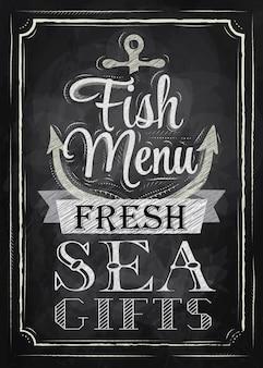 Poster fish menu