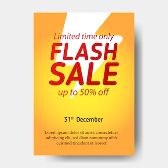 Poster flash sale banner template