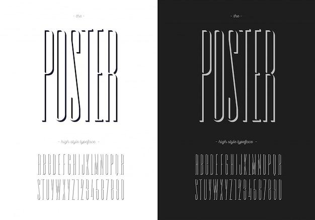포스터 글꼴 세트