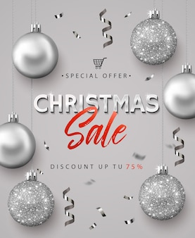 Плакат для рождественской распродажи.