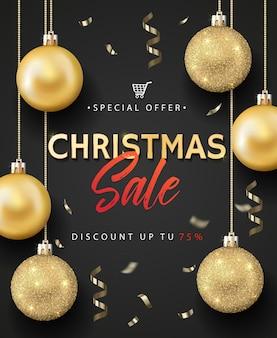 크리스마스 판매 포스터.