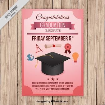 Плакат для окончания колледжа