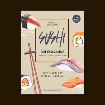 寿司レストランのポスター