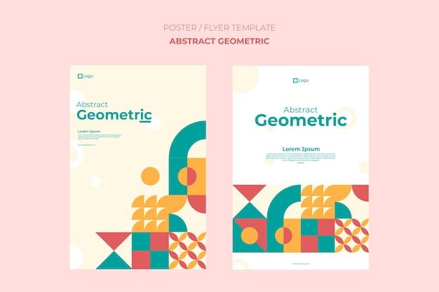 Poster geometric template