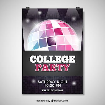 Poster for a great college party