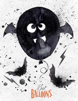 Poster halloween balloon
