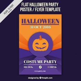 Poster for halloween purple and orange
