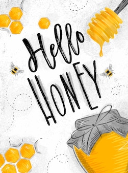 Poster hello honey
