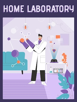 Poster of home laboratory concept