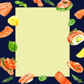 Poster japanese food