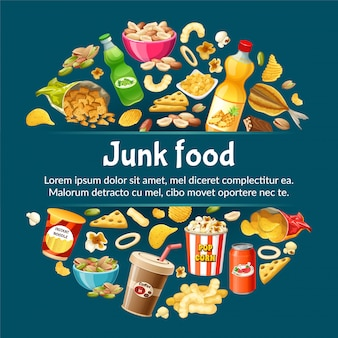 Poster of junk food.