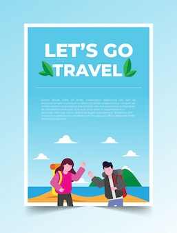 Poster lets go travel