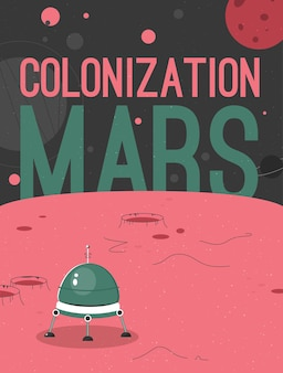Poster of mars colonization concept