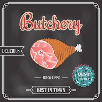Poster meat chalkboard