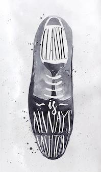 Ботинки постеры в ретро-винтажном стиле