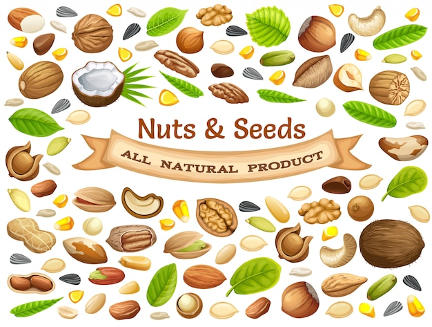 Poster of nuts.
