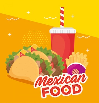 美味しいメキシコ料理のポスター