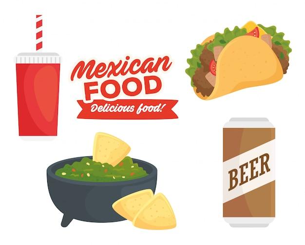 Плакат вкусной мексиканской кухни