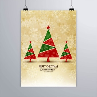 Poster of geometric christmas trees