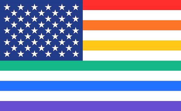 虹のアメリカ合衆国旗のポスター