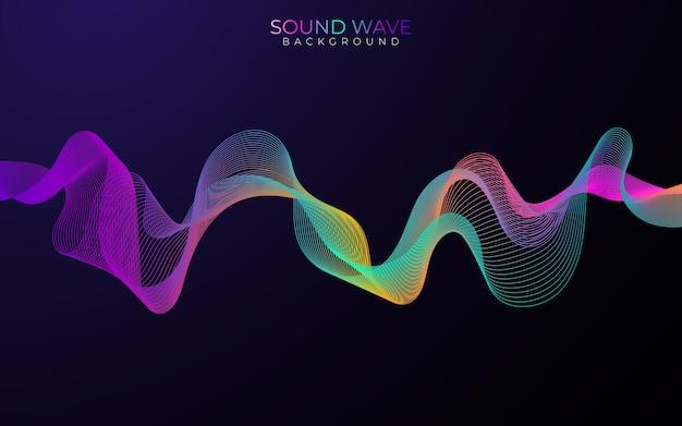 Плакат звуковой волны