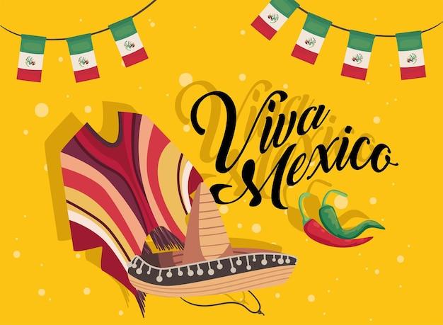 Плакат viva mexico