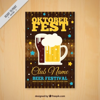 Poster oktoberfest with beer
