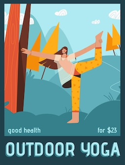 Poster of outdoor yoga concept