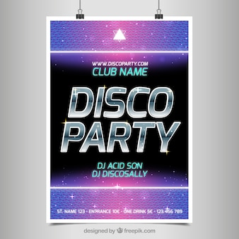 Poster for a party disco