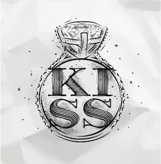 Poster ring kiss