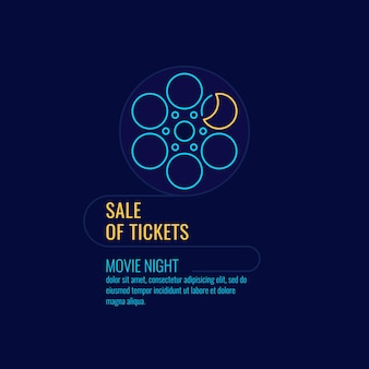 Poster sale of tickets movie night banner