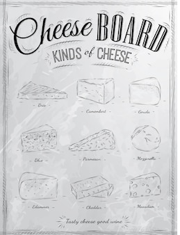 Poster set cheese coal