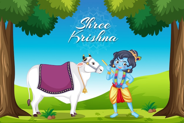 Poster for shree krishna