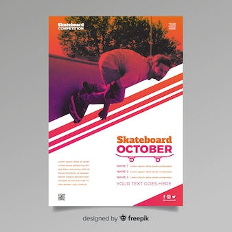 Poster sport template with image