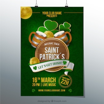 Poster for st patricks day