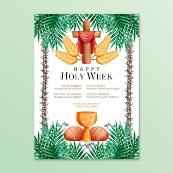 Poster style for holy week