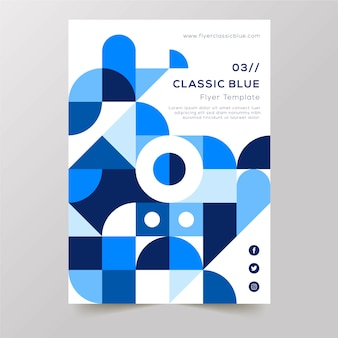 Poster template for abstract geometric shapes design