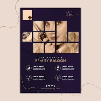 Poster template for beauty salon