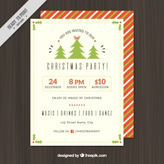 Poster template for christmas in flat design