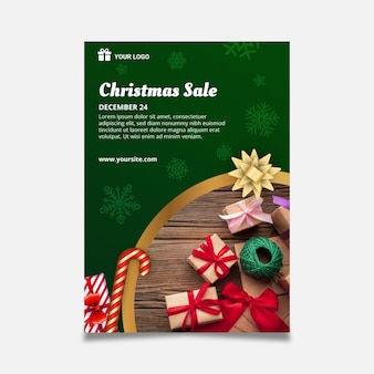 Poster template for christmas
