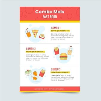 Modello di poster per pasti combinati